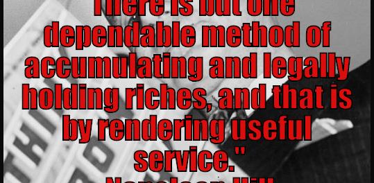 service brings wealth