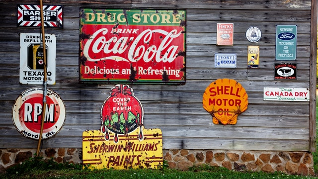 coca cola, shell motor oil, sheriwin willams logo