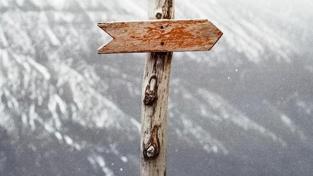 wood arrow